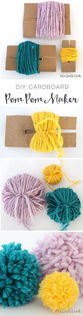 Cómo hacer pompones de lana fácil