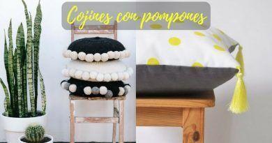 Cojines con pompones