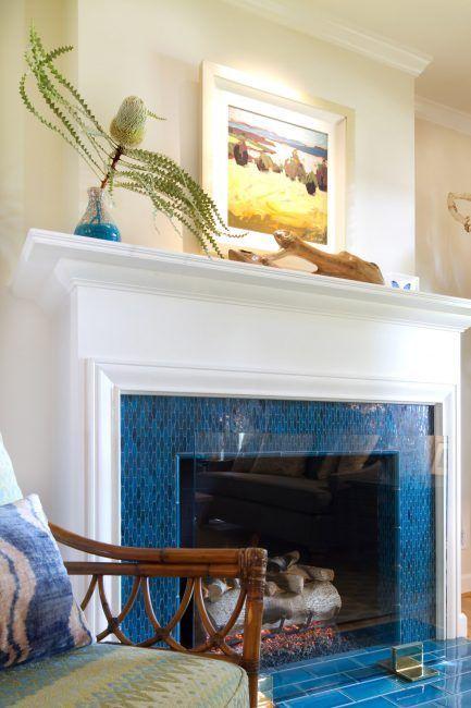 Decoración de chimeneas con azulejos