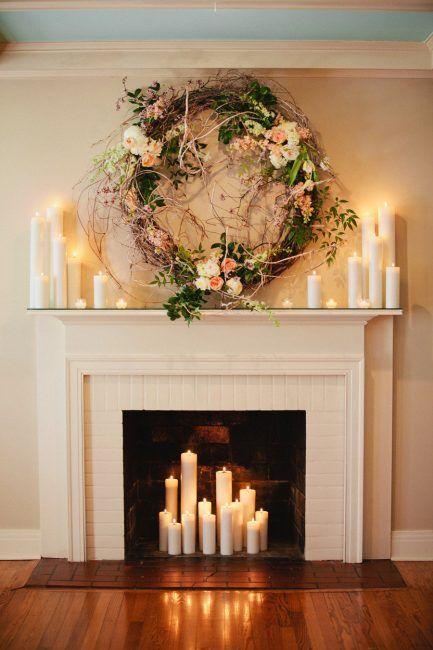 Decoración de chimeneas con velas
