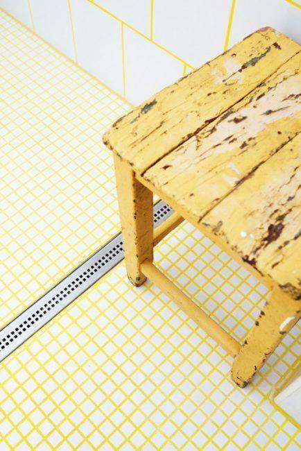 Lechada amarilla para suelo y pared
