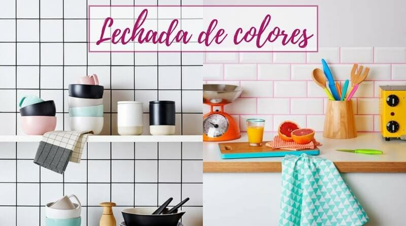 Lechada de colores para decorar paredes