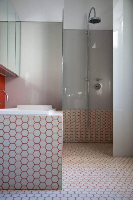 Lechada de colores para el baño