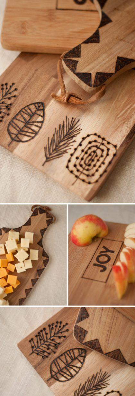 Diseños de pirograbado en madera