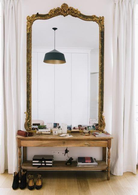 Espejos en recibidores pequeños