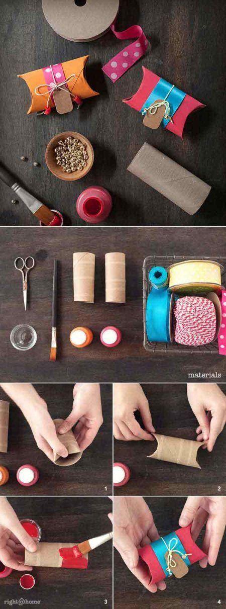 Manualidades con rollos de papel higiénico para hacer regalos