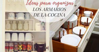 Ideas para organizar los armarios de la cocina
