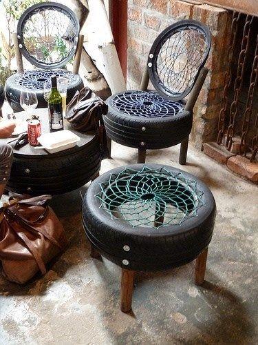Sillas originales con neumáticos