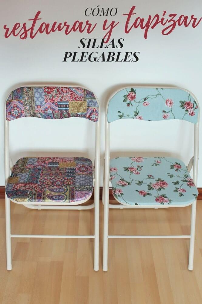 Restaurar y tapizar sillas plegables