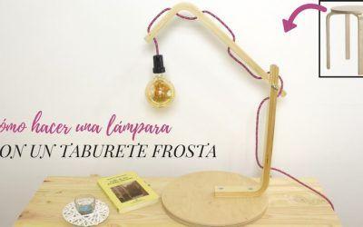 Cómo hacer una lámpara con un taburete FROSTA