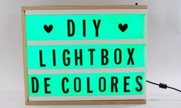 Cómo hacer una lightbox con luces de colores