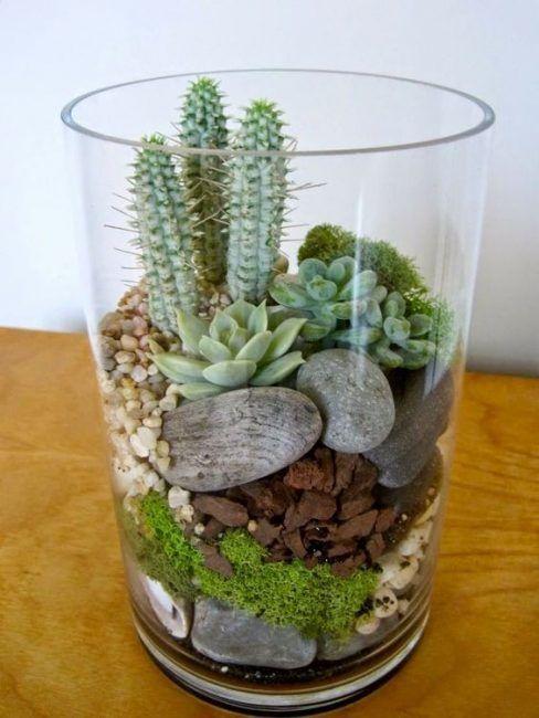Decorar con piedras y plantas