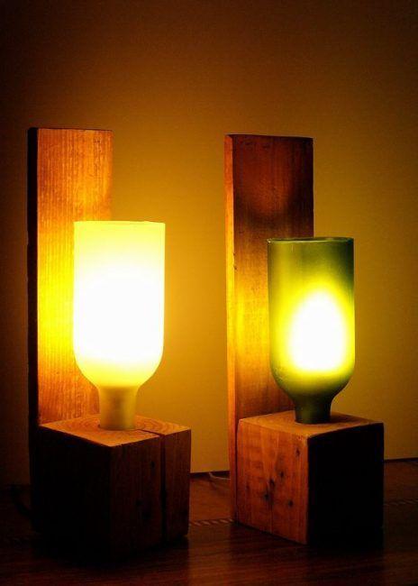 Iluminación con botellas
