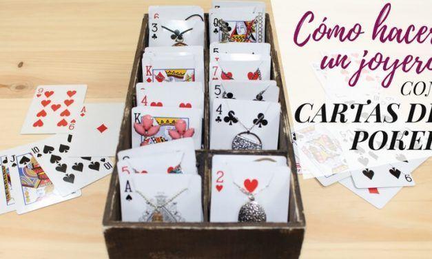 Cómo hacer un joyero con cartas de poker