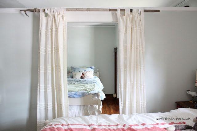 Barra de cortina hecha con un arpón