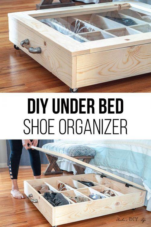 Cajón corredero bajo la cama