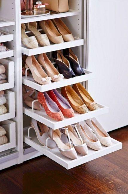 Estantes extraíbles para almacenar zapatos