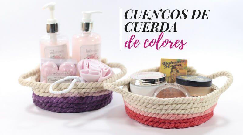 Cómo hacer cuencos de cuerda de colores