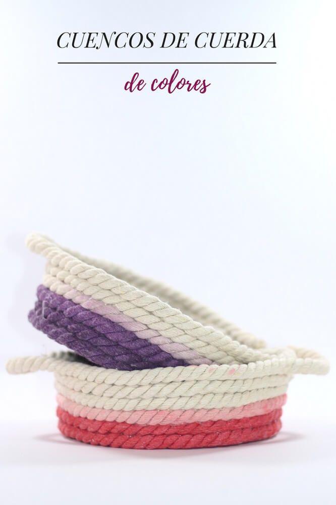 Cuencos de cuerda de colores