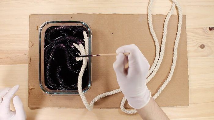 Teñir la cuerda