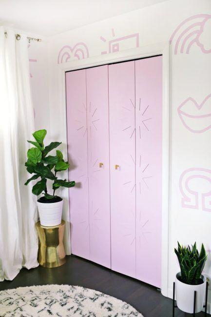 Decoración de puertas de armario