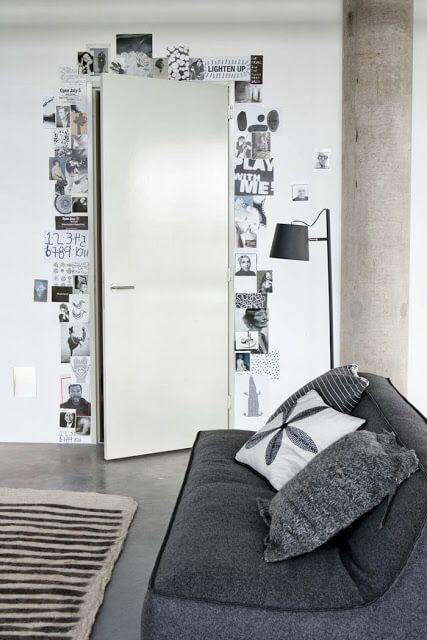 Decoración de puertas utilizando fotos