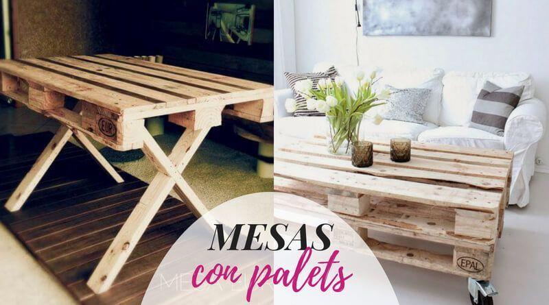 Ideas para hacer mesas con palets
