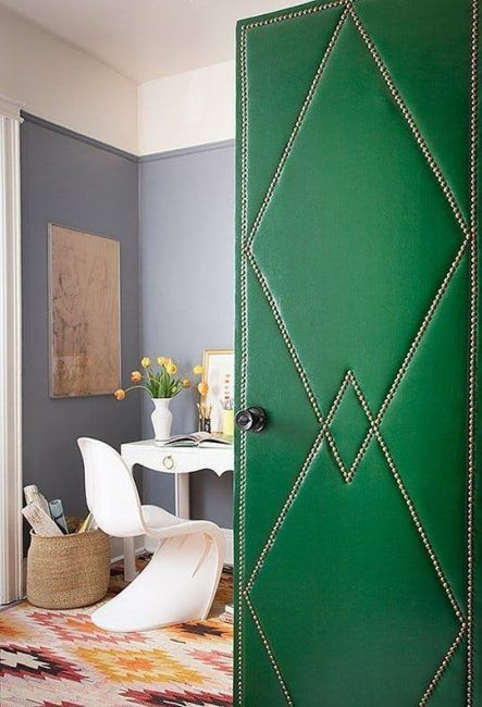 Tapizar puerta para decoración