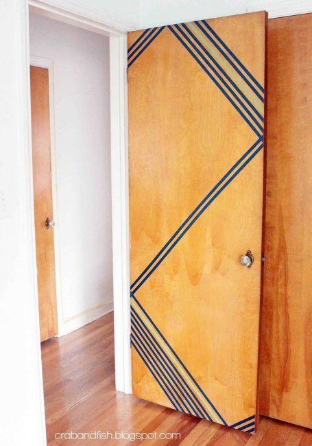 Washi tape para decorar puertas