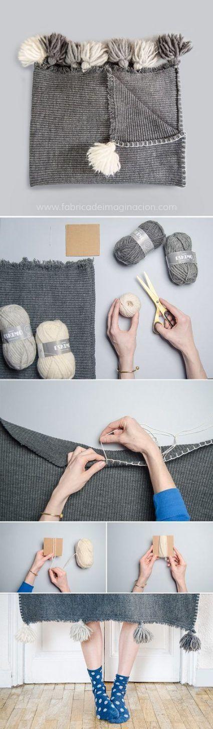 Personalizar manta con pompones