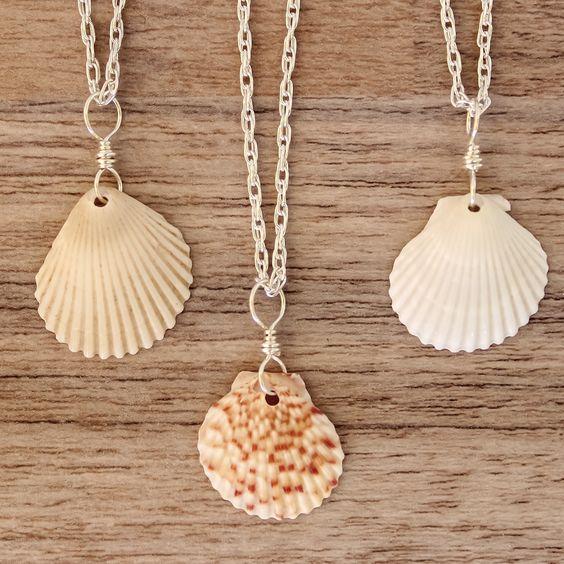 Colgantes con conchas