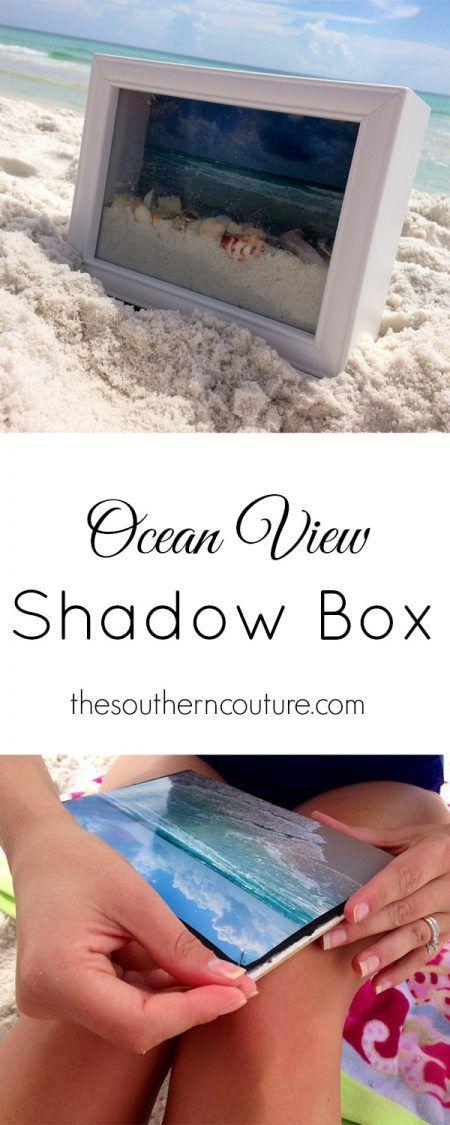 Cuadro con arena de playa y conchas
