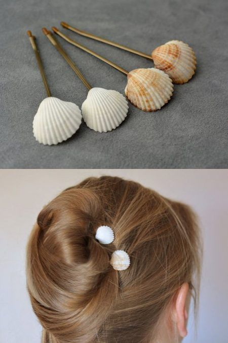 Horquillas con conchas de mar