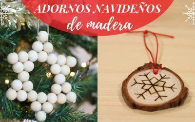 5 adornos navideños de madera para hacer en casa