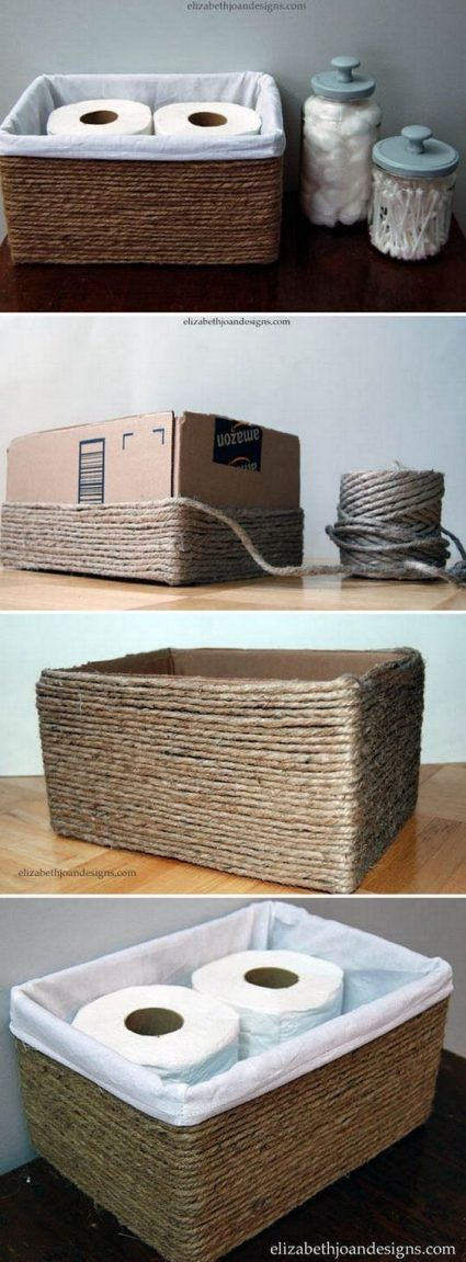 Cajas de zapatos y cuerda