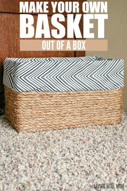 Haz una cesta con una caja de cartón