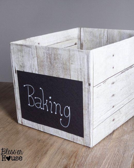 Transformar una caja de cartón