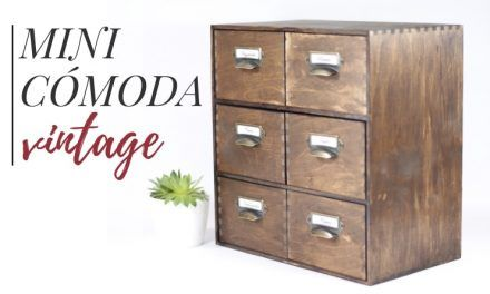 Crea tu propia mini cómoda vintage [Ikea Hack]