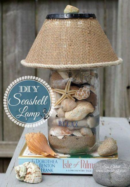lampara con conchas