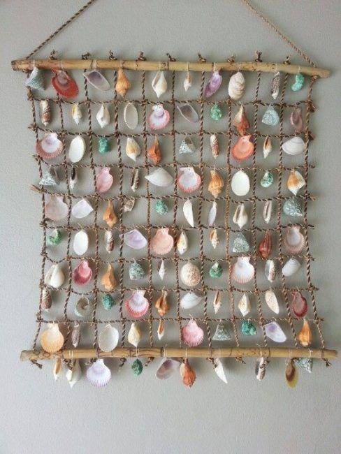 Malla decorativa con conchas