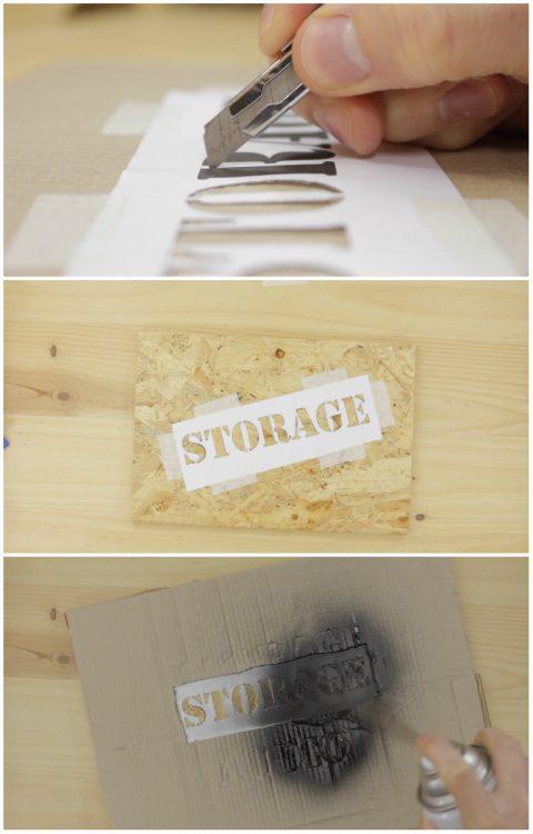 Hacer plantillas para la caja de madera