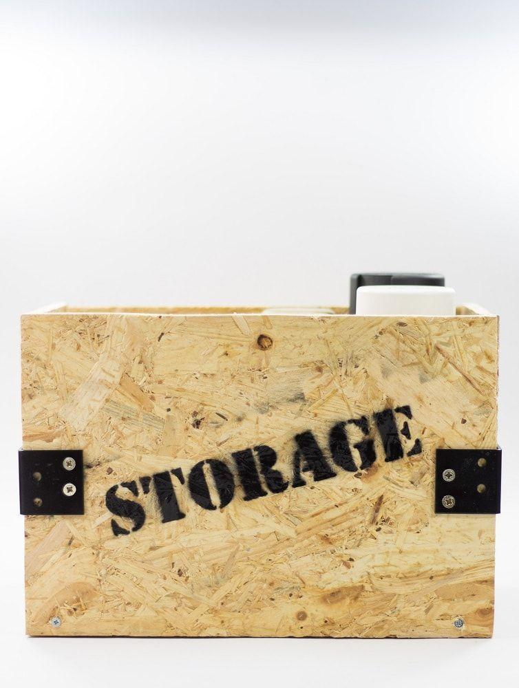 Caja de madera estilo industrial