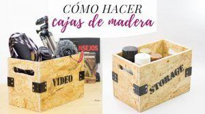 Cómo hacer cajas de madera con OSB