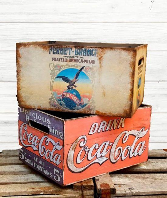 Caja vintage cocacola