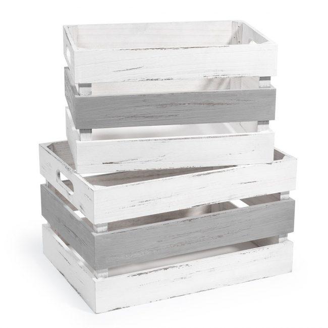 Cajas con diferentes tonalidades