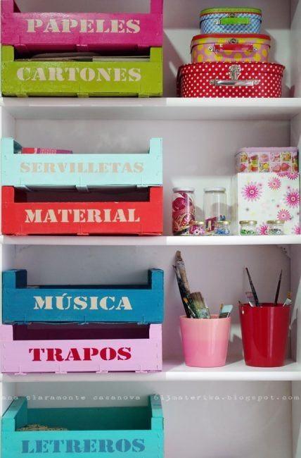 Cajas de fresas para almacenaje