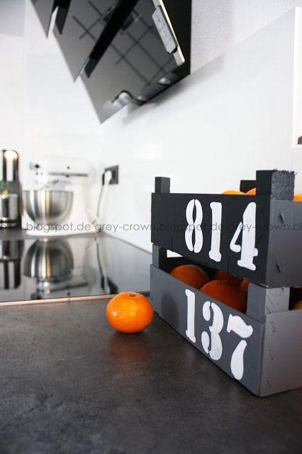 Cajas decoradas para guardar fruta