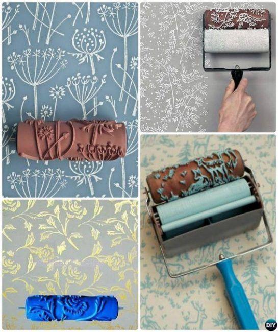 Ejemplos de paredes pintadas con rodillos texturizados