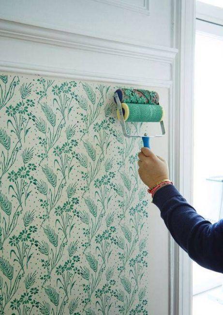 Pintar paredes con flores verdes