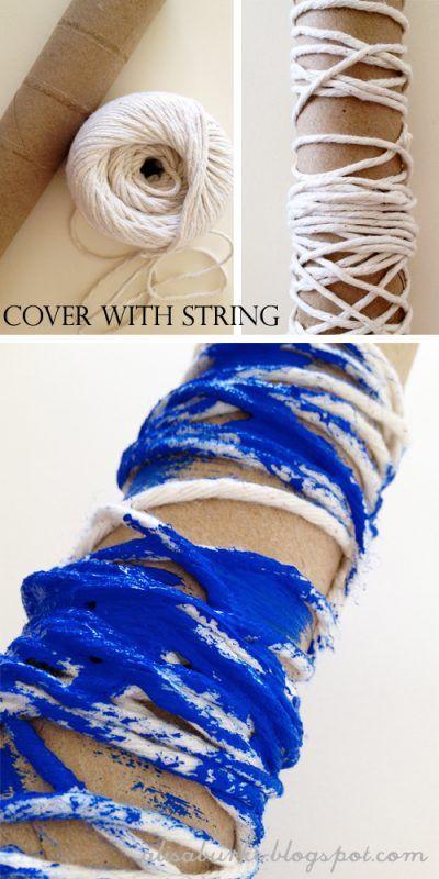 Rodillo casero con cuerda